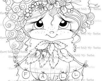 INSTANT DOWNLOAD Digital Digi Stamps Big Eye Big Head Dolls Bestie New Bestie  Lil Rosie  img686 My Besties By Sherri Baldy