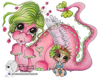 INSTANT DOWNLOAD My Besties img980 Bestie Sherri Baldy digi stamp