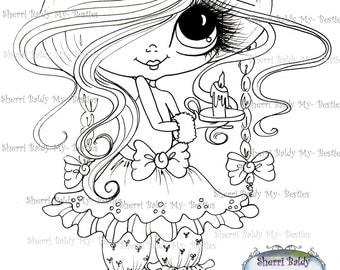 INSTANT DOWNLOAD Digital Digi Stamps Big Eye Big Head Dolls Digi  Img928 By Sherri Baldy
