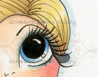 INSTANT DOWNLOAD Digital Digi Stamps Big Eye Big Head Dolls Digi  My - Besties Carley Half Face By Sherri Baldy