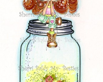 INSTANT DOWNLOAD Digital Digi Stamps Big Eye Big Head Dolls Bestie New Bestie Captured Fae My Besties By Sherri Baldy