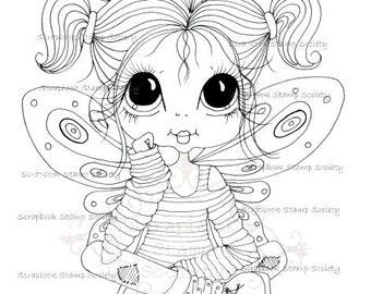 INSTANT DOWNLOAD Digital Digi Stamps Big Eye Big Head Dolls Digi  My - Besties  IMG694 By Sherri Baldy