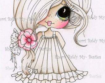 INSTANT DOWNLOAD Digital Digi Stamps Big Eye Big Head Dolls Digi  My Besties Partly Colored IMG436 21 By Sherri Baldy