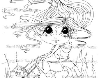 INSTANT DOWNLOAD Digital Digi Stamps Big Eye Big Head Dolls Bestie Scan0012  Besties TM By Sherri Baldy