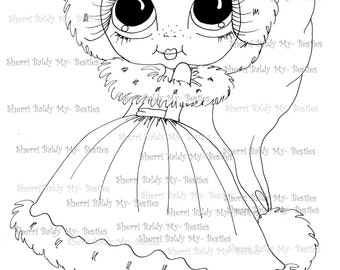 INSTANT DOWNLOAD Digital Digi Stamps Big Eye Big Head Dolls Digi Img008 By Sherri Baldy