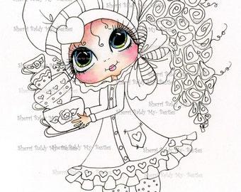 INSTANT DOWNLOAD Digital Digi Stamps Big Eye Big Head Dolls Digi  Pre Colored My Besties IMG893 3 Partly Pre Colored Digi  By Sherri Baldy