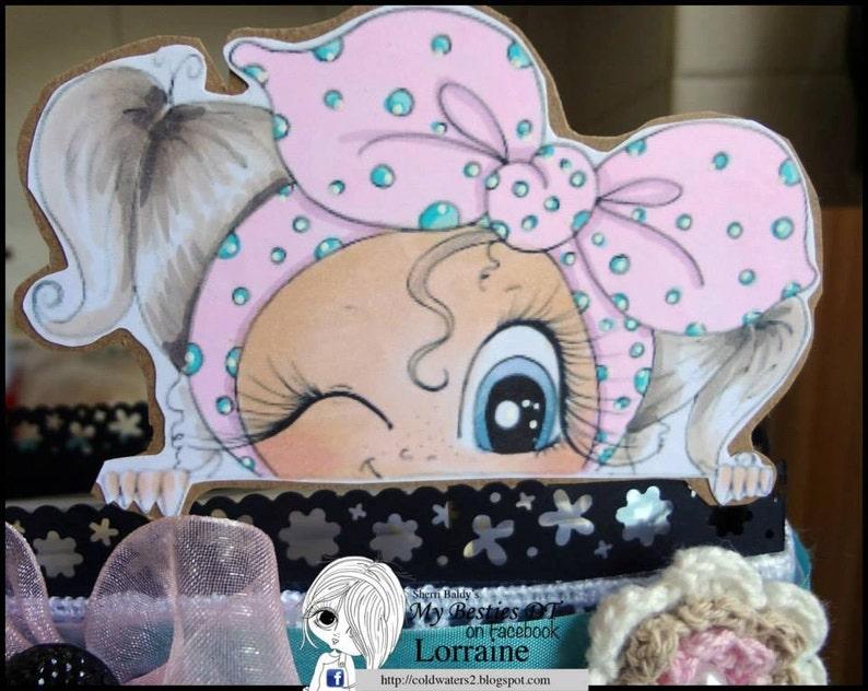 INSTANT DOWNLOAD Digital Digi Stamps Big Eye Big Head Dolls Bestie New Bestie Peek A Boo Wink My Besties Bowzs By Sherri Baldy