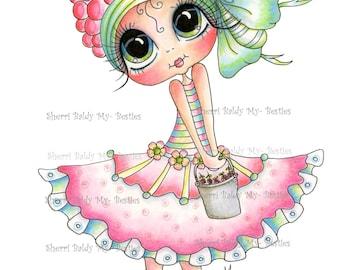 INSTANTÁNEA descargar Digital Digi sellos ojo grande Big Head Dolls nuevo Bestie Img097 mis Besties por Sherri Baldy