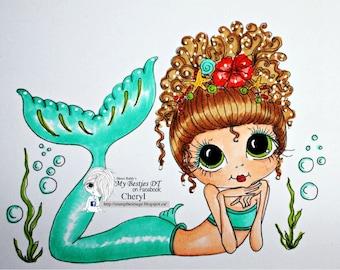INSTANT DOWNLOAD Digital Digi Stamps Big Eye Big Head Dolls NEW Bestie img661 Besties By Sherri Baldy