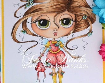INSTANT DOWNLOAD Digital Digi Stamps Big Eye Big Head Dolls NEW Sweet Treats Besties img646 My Besties By Sherri Baldy