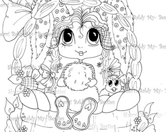INSTANT DOWNLOAD Digital Digi Stamps Big Eye Big Head Dolls  New My Besties  Scan0023 5 Bunny By Sherri Baldy