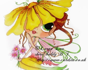 INSTANT DOWNLOAD Digital Digi Stamps Big Eye Big Head Dolls NEW My Besties img791 Fairy Bestie By Sherri Baldy