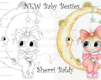INSTANT DOWNLOAD Digital Digi Stamps Big Eye Big Head Dolls Digi   Besties IMG747 By Sherri Baldy