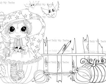 INSTANT DOWNLOAD Digi Stamps Big Eye Big Head Dolls Digi Bestie Boo Kitty By Sherri Baldy