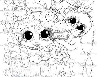 INSTANT DOWNLOAD Digital Digi Stamps Big Eye Big Head Dolls NEW Scan0017 My Besties Pets By Sherri Baldy