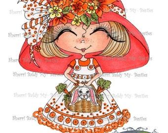 INSTANT DOWNLOAD Digital Digi Stamps Big Eye Big Head Dolls Digi  Img942 By Sherri Baldy