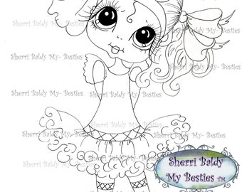 INSTANT DOWNLOAD Digital Digi Stamps Big Eye Big Head Dolls Digi  Remixxie By Sherri Baldy