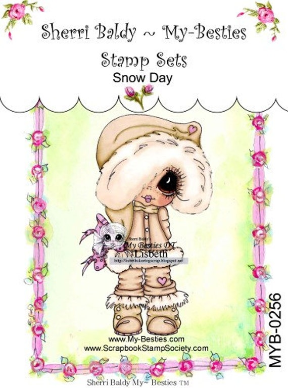 My-Besties Clear Rubber Stamp Big Eye Besties Big Head Dolls Miss Floppsie MYB-0016  By Sherri Baldy