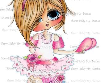 INSTANT DOWNLOAD Digi Stamps Big Eye Big Head Dolls Digi Bestie Heres My Heart Blakley Ann By Sherri Baldy