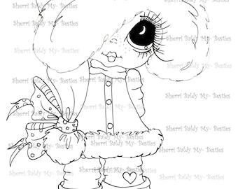INSTANT DOWNLOAD Digital Digi Stamps Big Eye Big Head Dolls Messy Bessy My Besties Digi Img392 By Sherri Baldy