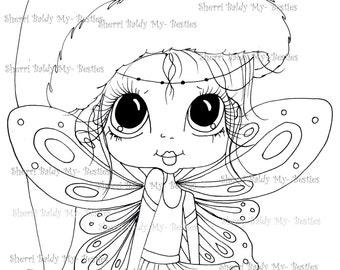 INSTANT DOWNLOAD Digi Stamps Big Eye Big Head Dolls Digi Bestie IMG960 By Sherri Baldy