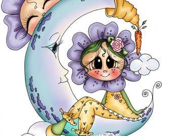 INSTANT DOWNLOAD Digital Digi Stamps Big Eye Big Head Dolls Digi Besties Adorable Bloom Besties  img926 By Sherri Baldy