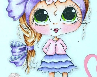 INSTANT DOWNLOAD Digital Digi Stamps Big Eye Big Head Dolls NEW Besties Julyremix3 My Besties By Sherri Baldy