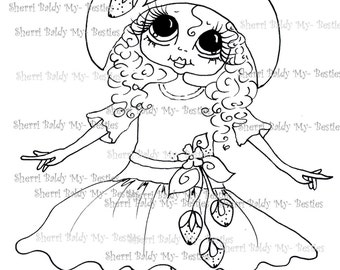 INSTANT DOWMLOAD Digital Digi Stamps Big Eye Big Head Dolls Digi  My Besties IMG060 By Sherri Baldy