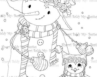INSTANT DOWNLOAD Digital Digi Stamps Big Eye Big Head Dolls NEW Besties img489 My Besties By Sherri Baldy