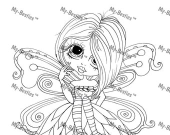 INSTANT DOWNLOAD Digital Digi Stamps Big Eye Big Head Dolls Bestie Blakely Ann Fairy Remix  My Besties By Sherri Baldy