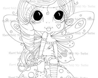 INSTANT DOWNLOAD Digital Digi Stamps Big Eye Big Head Dolls Digi  Besties IMG911 By Sherri Baldy