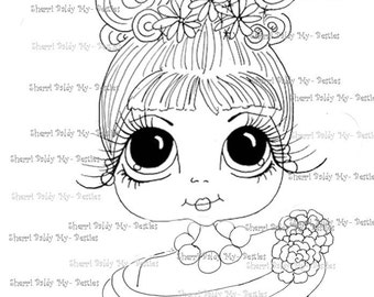 INSTANT DOWNLOAD Digital Digi Stamps Big Eye Big Head Dolls Digi Audery U Close By Sherri Baldy