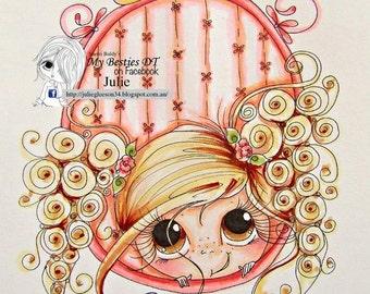 INSTANT DOWNLOAD Digital Digi Stamps Big Eye Big Head Dolls IMG859 My Besties By Sherri Baldy