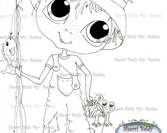 INSTANT DOWMLOAD Digital Digi Stamps Big Eye Big Head Dolls Digi Bestie Boyfriends imf567  By Sherri Baldy