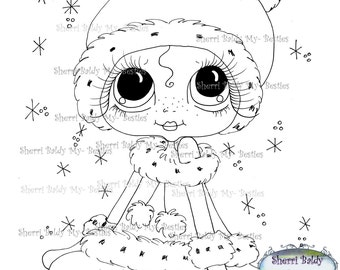 INSTANT DOWNLOAD Digital Digi Stamps Big Eye Big Head Dolls Messy Bessy IMG956 My Besties By Sherri Baldy