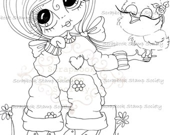 INSTANT DOWNLOAD Digital Digi Stamps Big Eye Big Head Dolls Digi  My Besties IMG841 By Sherri Baldy