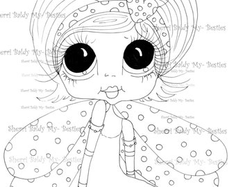 INSTANT DOWMLOAD Digital Digi Stamps Big Eye Big Head Dolls Digi  My Besties IMG858 By Sherri Baldy