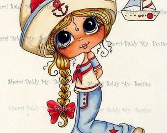 INSTANT DOWNLOAD Digital Digi Stamps Big Eye Big Head Dolls Digi Img389 Bestie By Sherri Baldy
