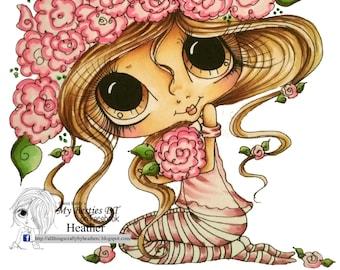INSTANT DOWNLOAD Digital Digi Stamps Big Eye Big Head Dolls Digi  Img929 By Sherri Baldy