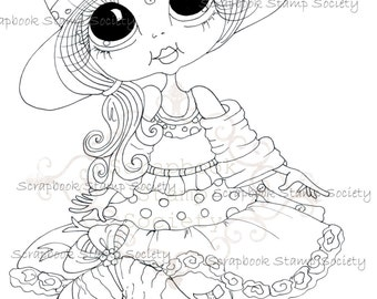 INSTANT DOWNLOAD Digital Digi Stamps Big Eye Big Head Dolls Digi  My - Besties  IMG826 By Sherri Baldy