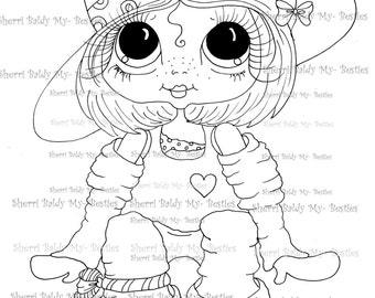 INSTANT DOWNLOAD Digi Stamps Big Eye Big Head Dolls Digi Bestie IMG961 By Sherri Baldy