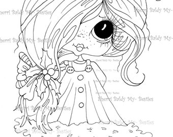 INSTANT DOWNLOAD Digital Digi Stamps  Digi Big Eye Big Head Dolls Digi  img454  Bestie By Sherri Baldy
