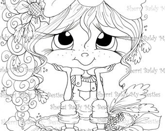INSTANT DOWNLOAD Digital Digi Stamps Big Eye Big Head Dolls Bestie New Bestie  Lil Rosie  img670 My Besties By Sherri Baldy