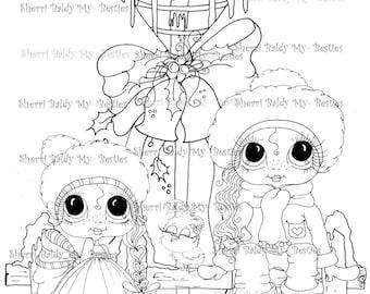 INSTANT DOWNLOAD Digi Stamps Big Eye Big Head Dolls Digi Bestie Christmas Bird By Sherri Baldy