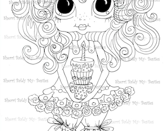 INSTANT DOWNLOAD Digital Digi Stamps Big Eye Big Head Dolls Messy Bessy IMG879 My Besties By Sherri Baldy