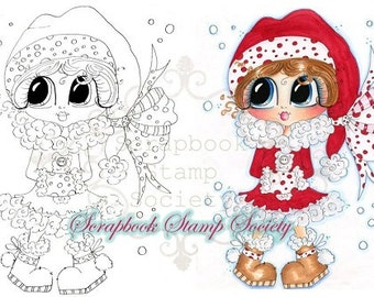 INSTANT DOWNLOAD Digital Digi Stamps Mary Muffler Big Eyed  Besties Big Head Dolls Digi By Sherri Baldy