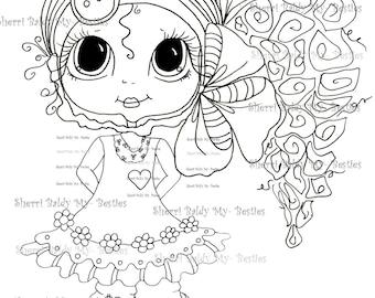 INSTANT DOWNLOAD Digital Digi Stamps Big Eye Big Head Dolls Digi  My - Besties  Besite 4 By Sherri Baldy