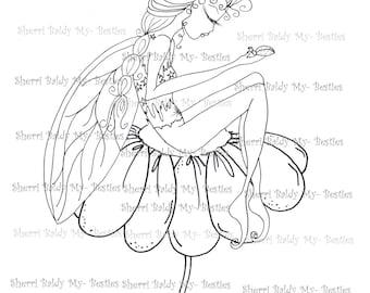INSTANT DOWNLOAD Digital Digi Stamps Big Eye Big Head Dolls Digi Little Lady Bug Fairy By Sherri Baldy