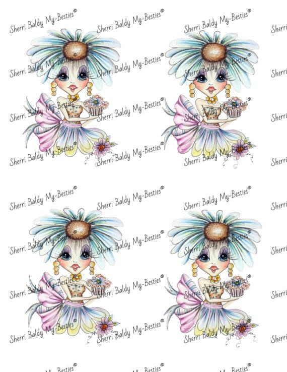 Instant Download 3D deco Sheet Millie Mae Friends Big Head Dolls Digi By Sherri Baldy