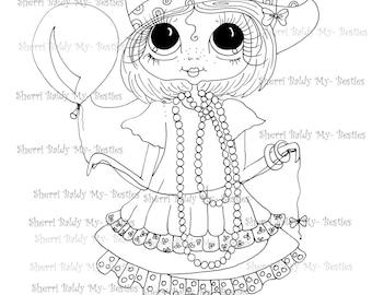 INSTANT DOWNLOAD Digital Digi Stamps Big Eye Big Head Dolls Digi  My Besties Mothers Pearls Daddys ShoesBy Sherri Baldy